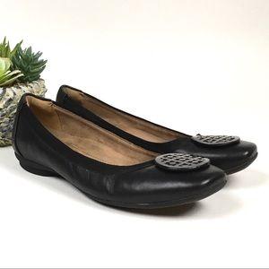 Clark's Artisan Candra Blush Leather Flats Blk 8.5